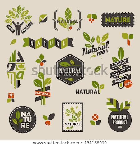 vector icons labels on the theme of ecology stock photo © mamziolzi