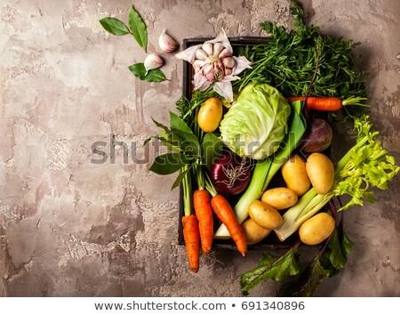 Groentesoep bestanddeel achtergrond tomaat peper kok Stockfoto © M-studio