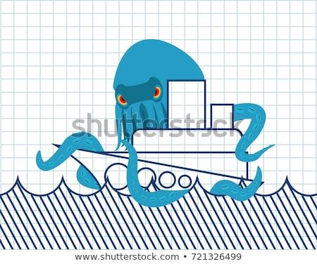 Polvo navio monstro assustador viajar Foto stock © popaukropa