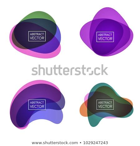 Círculo etiqueta brillante resumen formas blanco Foto stock © blumer1979