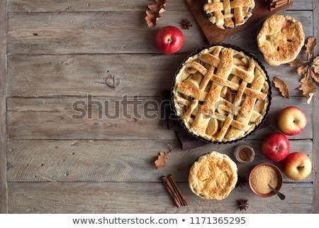 домашний мини яблоко пироги белый пластин Сток-фото © Melnyk