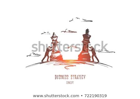 Ganar estrategia de negocios negocios éxito camino 3d Foto stock © Lightsource