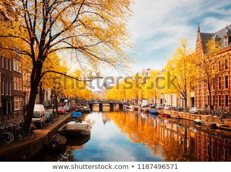 embanlment of canal ring, Amsterdam Stock photo © neirfy