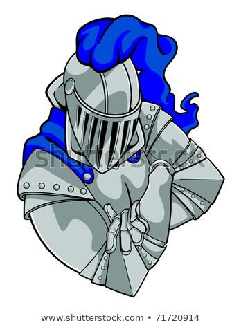 Cartoon Knight Arms Crossed Stock photo © cthoman
