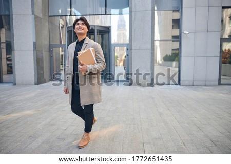 画像 ポジティブ ビジネスマン 30歳代 笑みを浮かべて ストックフォト © deandrobot