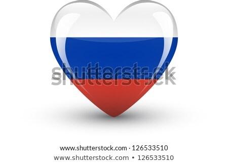 Сток-фото: Россия · флаг · формы · сердца · иллюстрация · дизайна · искусства