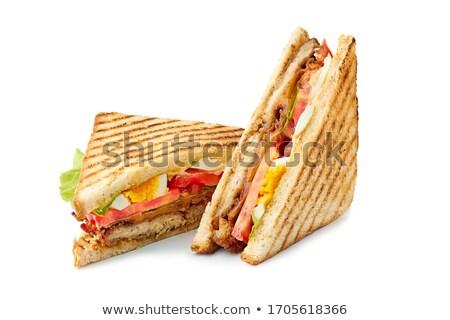 Torrado pão sanduíche coração isolado Foto stock © FOKA
