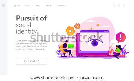 Cyberstalking concept landing page. Stock photo © RAStudio