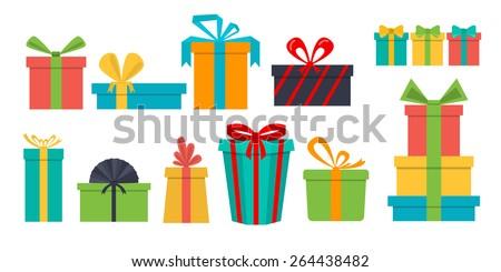 Ajándék doboz ikon vektor izolált fehér szerkeszthető Stock fotó © smoki