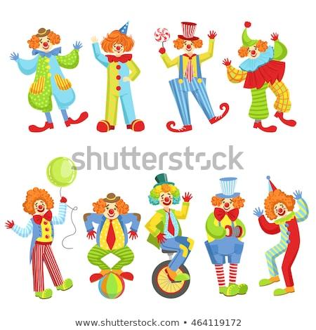 Circus Performer Riding Unicycle Drawing Stock photo © patrimonio