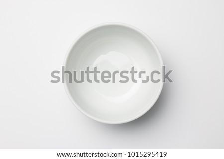 Vuota ciotola ceramica bianco alimentare ristorante Foto d'archivio © bdspn