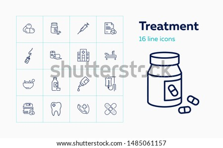 Vetor conjunto injeção medicina hospital saco Foto stock © olllikeballoon