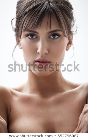 Young woman expressing loathing or pain Stock photo © Giulio_Fornasar