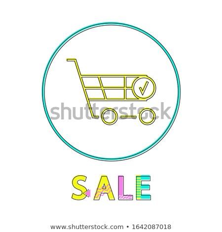 Carrello della spesa vendita notifica lineare icona carrello Foto d'archivio © robuart