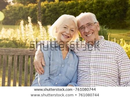フロント 表示 幸せ 座って ベンチ ストックフォト © wavebreak_media