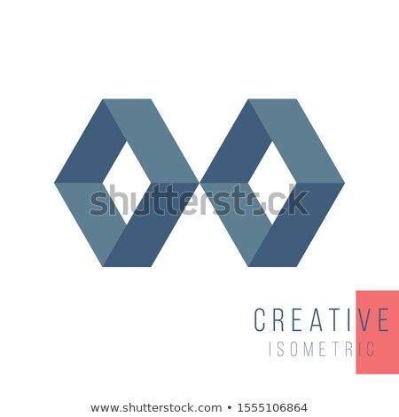 Abstract geometric isometric two rhombus shape. Graphic design element template for logo design. Sto Stock photo © kyryloff