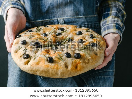 homemade focaccia stock photo © antonio-s