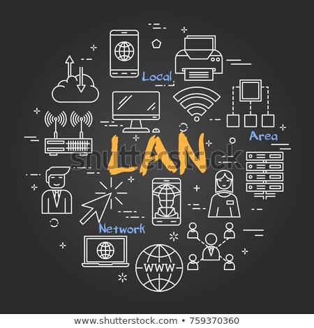 Local Area Network, LAN Concept Illustration Stock photo © make