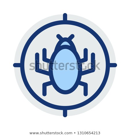 Bicho alvo ícone vetor ilustração Foto stock © pikepicture