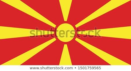 Macedonia bandera blanco corazón signo color Foto stock © butenkow