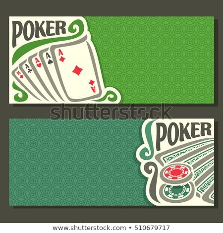 Cztery poker połączenie szary cień domu Zdjęcia stock © evgeny89
