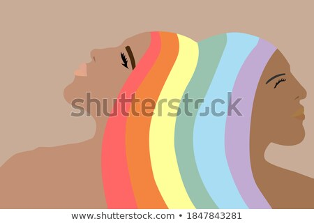 Lesbiche ragazza icona donna simbolo Rainbow Foto d'archivio © evgeny89