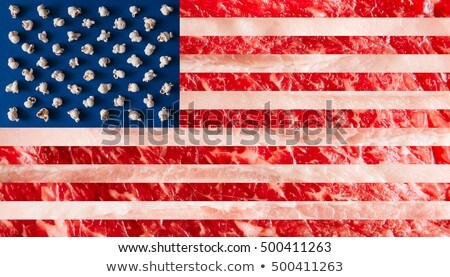 flag and popcorn on american independence day Stock photo © dolgachov