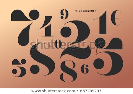 Aantal doopvont nummers klassiek frans stijl Stockfoto © FoxysGraphic