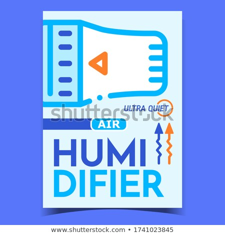 Air Humidifier Promotional Flyer Banner Vector Stock photo © pikepicture