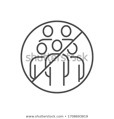 Avoid crowded places related vector thin line icon. Stock photo © smoki