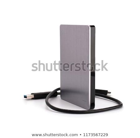 Harde schijf mobiele zwarte opslag verbinding drive Stockfoto © FOKA