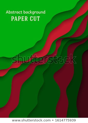 Green Paper Cutouts Stock photo © cidepix