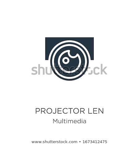 Bianco multimediali proiettore istruzione schermo video Foto d'archivio © ozaiachin