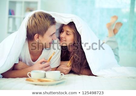 午前 かなり 若い女性 アップ コーヒー ストックフォト © MikLav