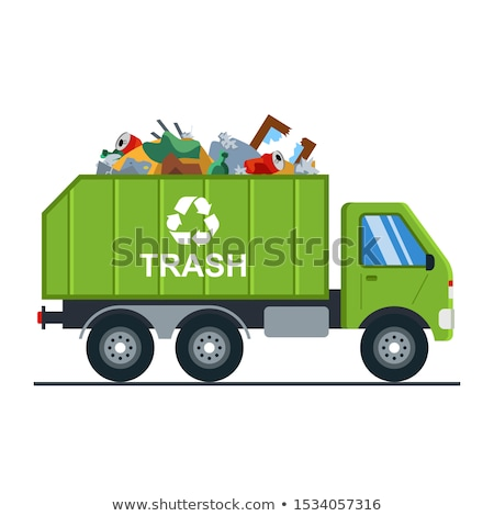Green Tipper isolated on white background vector illustration Stock photo © leonido