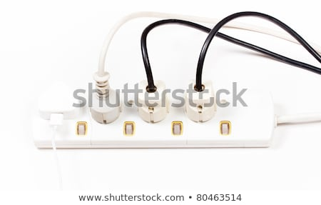 white multiple socket and plugs sideways stock photo © prill