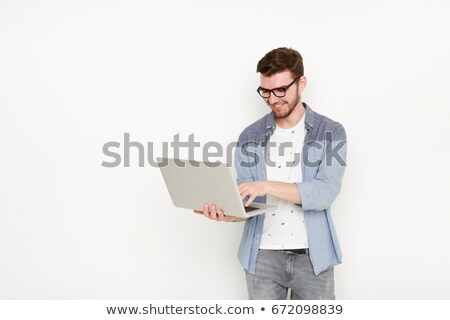 affaires · regarder · portable · assistant · femme · homme - photo stock © photography33