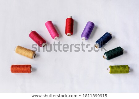 orange red blue green and pink bobbin Stock photo © compuinfoto