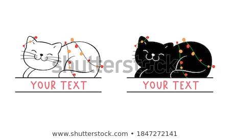 サンタクロース シルエット バブル スケッチ スタイル クリスマス ストックフォト © cienpies