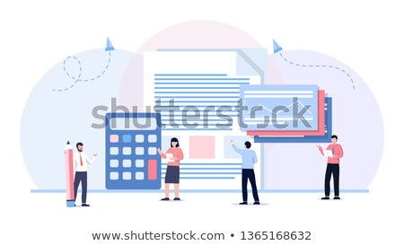 businessman and businesswoman calculating the budget Stock photo © photography33