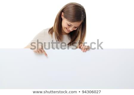 Young Woman Above Blank Space  Stock photo © lorenzodelacosta