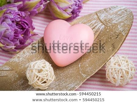 romantische · hart · kaars · Valentijn · chocolade · chip - stockfoto © neirfy