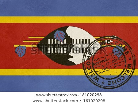 Welcome to Swaziland flag with passport stamp Stock photo © speedfighter