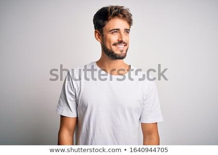 genç · sakal · uzak · bakıyor - stok fotoğraf © feedough
