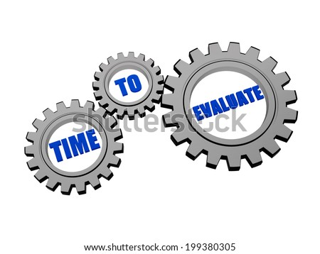 time for evaluate in silver grey gears stock photo © marinini