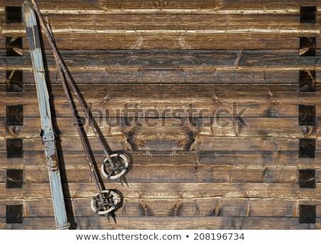 先頭 · 古い · 木製 · 歴史的 · 要塞 · 空 - ストックフォト © w20er