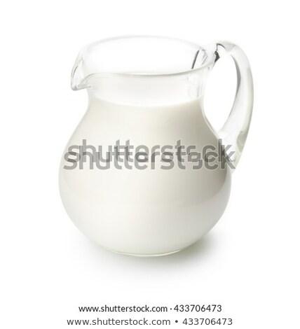 Jarro leite pão natureza Foto stock © -Baks-