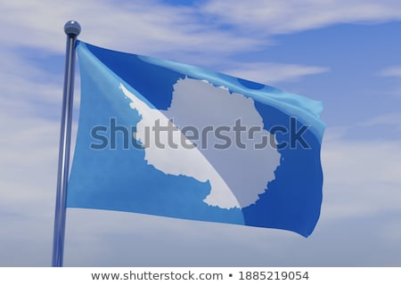 People with flag of antarctica Stock photo © MikhailMishchenko