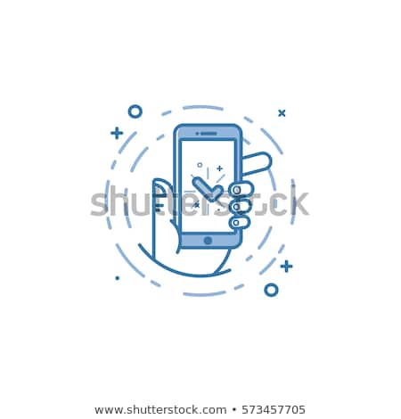 üzenet kék vektor ikon terv beszéd Stock fotó © rizwanali3d