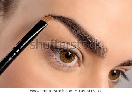 Brew makijaż kobieta oka moda projektu Zdjęcia stock © fuzzbones0